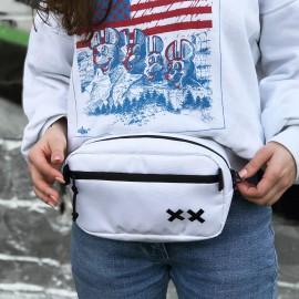 """Поясна сумка """"YARD"""" біла"""